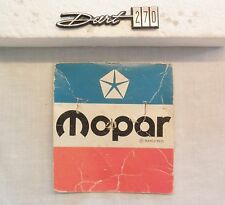 1968 68 1969 69 Dodge Dart 270 dash glove box emblem name plate
