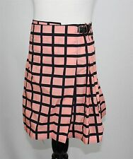 NWT MARNI Girl's Wrap Skirt Size 6 Pink Check 100% Cotton Italy W Belt MSRP $246