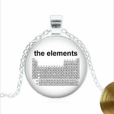 Periodic Table of The Elements Tibet silver Glass dome Necklace chain Pendant