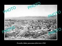 OLD 6 X 4 HISTORIC PHOTO OF POCATELLO IDAHO PANORAMA OF THE TOWN c1940
