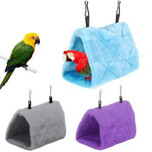 Pet Birds Parrot Parakeet Budgie Warm Hammock Winter Hut Hanging Cave Nest Cage
