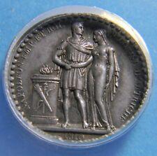 France 1810 Napoleon Marriage Silver medal token Anacs AU 58 - By CAQUÉ