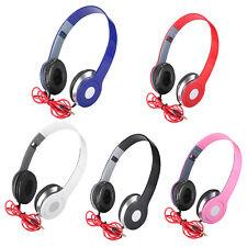 Over-Ear Teens Kids Childs Foldable DJ Headphones 3.5mm Wired Game Earphones