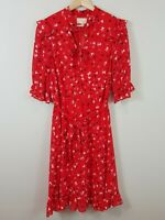 [ KAREN WALKER ] Womens Hi There Heart Print Dress  | Size AU 10 or US 6