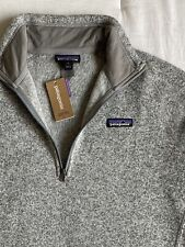$99 NWT Patagonia W's Better Sweater 1/4 Zip Large Color Birch White AUTHENTIC