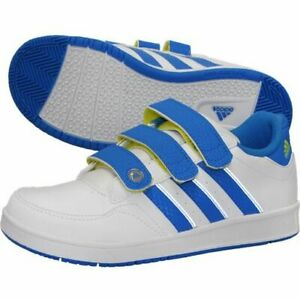 ADIDAS LK TRAINER 4 CF K  BOYS SHOES (WHITE - BLUE ) G62179 UK 5