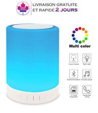 Enceinte, Lampe LED Haut-parleur Bluetooth Contrôle Tactile,  lampe Multicolore