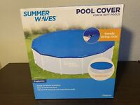 NEW Summer Waves Adjustable Pool Cover for 10-15ft Inflatable & Frame Pools