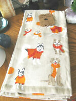 New Fall Harvest Theme Dogs Bulldog, Lab, Corgi, Husky, Beagle Towels Set of 2