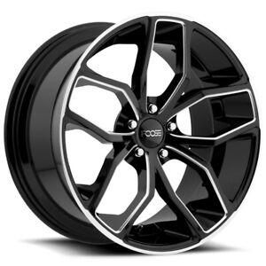 """Foose F150 Outcast 20x8.5 5x4.5"""" +35mm Black/Milled Wheel Rim 20"""" Inch"""