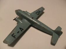 Dinky Toys France aeroplane #64bz Bloch 220 aircraft in turqouise blue