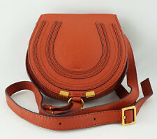 Chloe Marcie Whiskey Small Satchel Leather Shoulder Bag Crossbody Cross Body