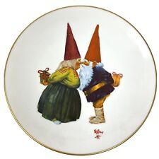 Vtg 1976 Gnome Bliss Rien Poortvliet Rubbing Noses 8.5 Fairmont Porcelain Plate