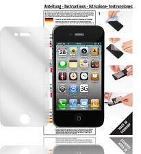 6x Displayschutzfolien für Apple iPhone 4S Schutzfolie Klar Folie Displayfolie