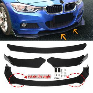 Universal Front Bumper Lip Chin Splitter Body Side Kit Spoiler Protector