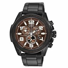 Citizen Eco-Drive Men's AT2275-56X Chronograph Brown Dial 48mm Bracelet Watch