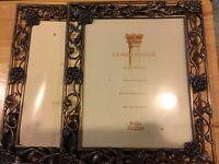 ❤️CONNOISSEUR picture frame (1) Gold/Bronze Roses Floral Cutout Easel 8X10
