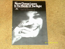 Millie Jackson sheet music Never Change Lovers in the Middle. 1978 6 pp. (Vg+)