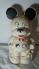 Rare Large Vintage Mickey and Minnie Mouse Two Sided Cookie Jar