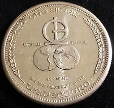 One Troy 1 Onza 1974 UNIVERSARO 1 OZ Monnaie Lingot Argent/Silver 999/
