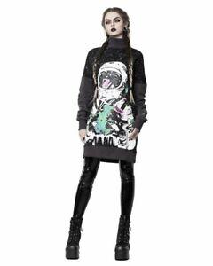 Rogue + Wolf Gothic Goth Fantasy Pullover Catstronaut Sweatshirt Katze Astronaut