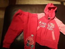 Harley Davidson Hoodie and sweat pants Infant Baby Girl Pink sz 12 months