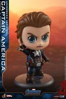 Hot Toys Q Mini  Captain America Figure  Avengers 4 Cosbaby Bobble-Head Doll Toy
