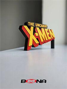 Decorative Marvel's THE UNCANNY X-MEN self standing logo display (Bronze age)