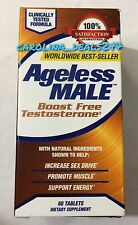 NEW Ageless Male 60 Tablets By New Vitality Boost Free Testosterone Exp 05/2019