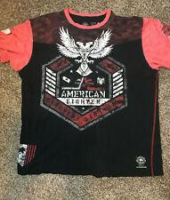 Men's American Fighter 1974 Black T-Shirt Size 3XL