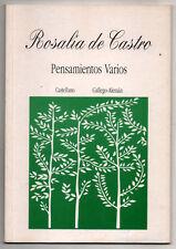 PENSAMIENTOS VARIOS - ROSALIA DE CASTRO - EN CASTELLANO Y GALLEGO-ALEMAN