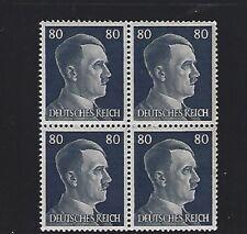 MNH  Adolph Hitler stamp block, 1941, PF80, Original Third Reich Germany Block