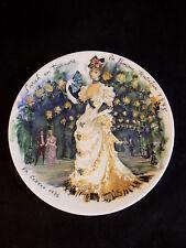 Vintage D'Arceau Limoges Hand Painted Porcelain plate Sarah En Tournure