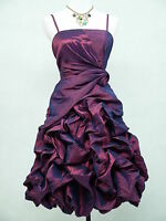 Cherlone Satin Purple Boho Prom Evening Party Cocktail Ball  Dress UK size 20-22