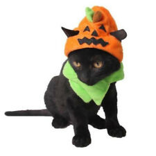 Halloween X'mas Pet Cat Dog Hat Pumpkin Designed Party Costume Hat Headwear *
