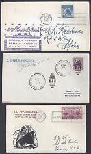 US 1935 52 THREE SHIP LAUNCHINGS FIRST TRIP SS WASHINGTON SS PRES HARDING SS UNI