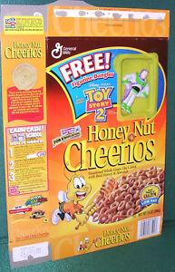 Honey Nuts Cheerios Box w/ Toy Story 2 Figurine Dangler Attached-Buzz Lightyear