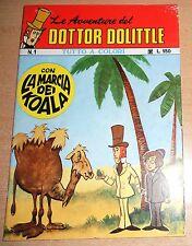 ED.WILLIAMS SERIE  LE AVVENTURE DEL DOTTOR DOLITTLE   N° 1  1973  ORIGINALE !!!!