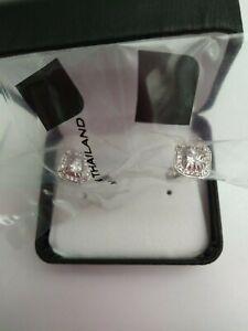 Velda Sterling Silver Diamond Pierced Earrings