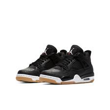 2019 Nike Air Jordan 4 Retro Laser Bg Sz 7Y Black White Gum Red Ci2970-001