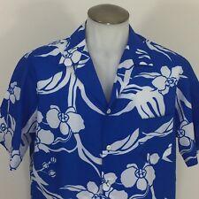 Hilo Hattie Vintage Hawaiian Mens Shirt Orchids XL Made USA