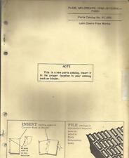John Deere F245H Semi Integral Plow Parts Catalog