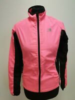 L659 WOMENS KARRIMOR RUN BLACK PINK  ZIP TRAINING TOP UK SIZE XS 8 EU 36