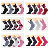 3 PAIRS LADIES LIGHTWEIGHT THERMAL INSULATED SOCKS, HOT WINTER WARM THICK FLEECE