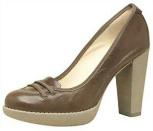 Exclusiv*Lacoste Damenschuhe Leder Pumps Plateau Schuhe Damen braun NEU EDEL