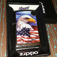 Zippo 24764 MAZZI Freedom Watch Street Chrome NEW in box Windproof Lighter