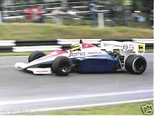 AYRTON SENNA TOLEMAN BRANDS HATCH 1984 BRITISH GRAND PRIX F1 GP FOTO PHOTOGRAPH