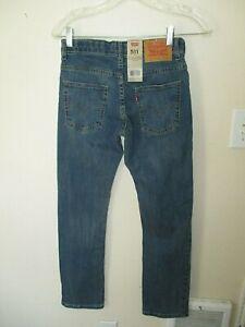 NWT BOYS YOUTH LEVIS 511 SLIM Zip BLUE DENIM JEANS Size 12 Regular 26 x 26