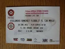 26/06/2012 Ticket: Cricket - Northamptonshire v Somerset [T20] (Creased)