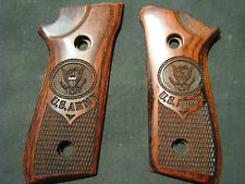 Taurus PT 92 99 Beautiful Fine Rosewood ARMY Pistol Grips Fancy Checkered Decock